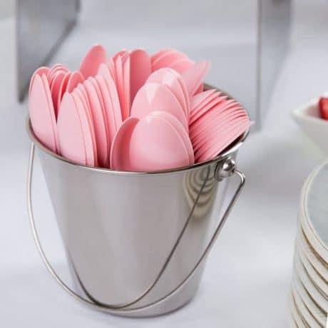 Baby Shower Pink Plastic Spoon