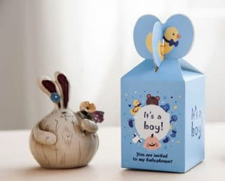 It's a boy baby shower favor box
