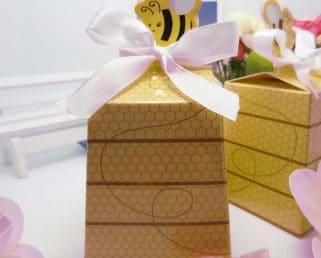 Honeybee Baby Shower Favor Box