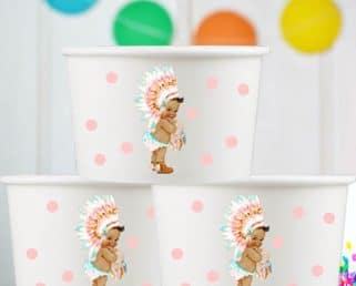 girl boho baby girl boho baby party snack cups