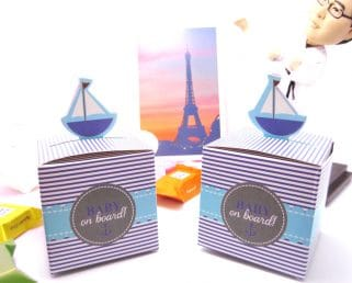 nautical birthday favor box
