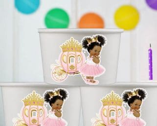 princess party dessert bowls