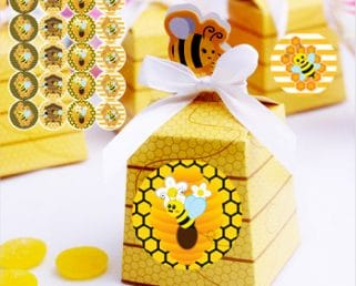 Baby Shower Bee Theme Favor Box