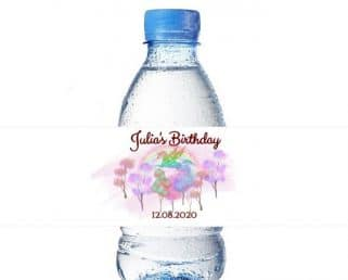 Unicorn Water Bottle Labels for Unicorn Birthday