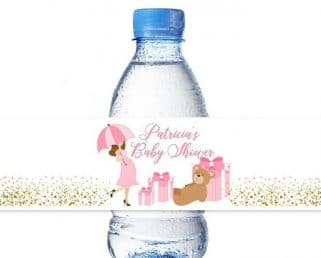 Baby Girl Water Bottle Labels