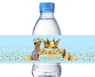 Little Prince Baby shower Water Bottle Labels