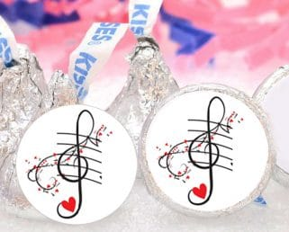 music party kiss labels