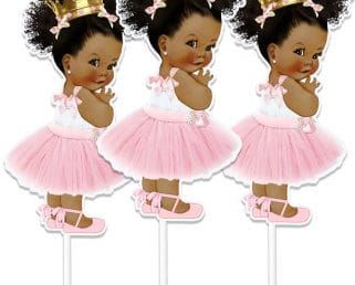 African American Princess Cake Toppers