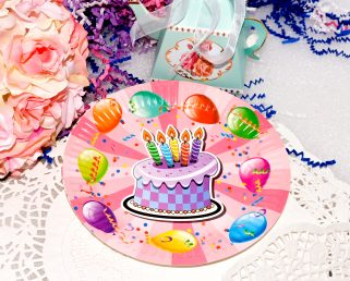 Birthday Balloon Theme Paper Plates