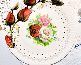 Rose Floral Paper Plates