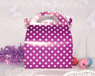 Purple Birthday Wedding Baby shower Gable Favor Box