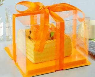 Orange Large Cake Box