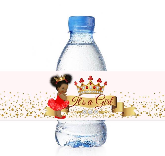 4c5e587f1b Red Theme Princess Water Bottle Labels – Party Decor